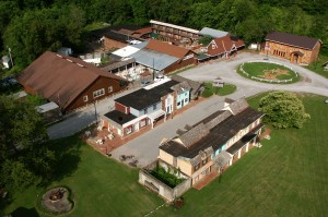 aerial view of pioneer playhouse